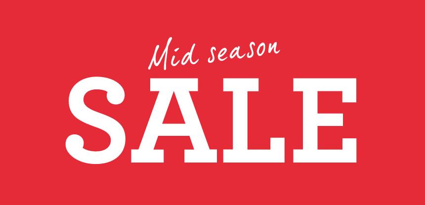 Mid-season fashion sales