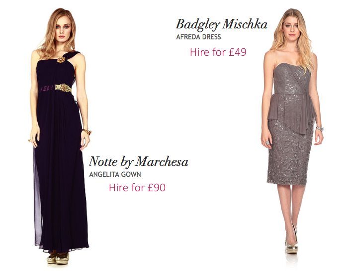 designer dress hire for weddings