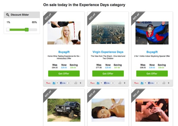 Finding Experience Day Discounts