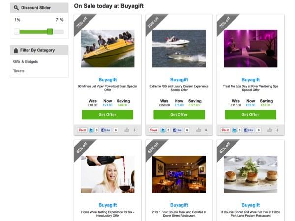 Finding Discounts at Buyagift.com