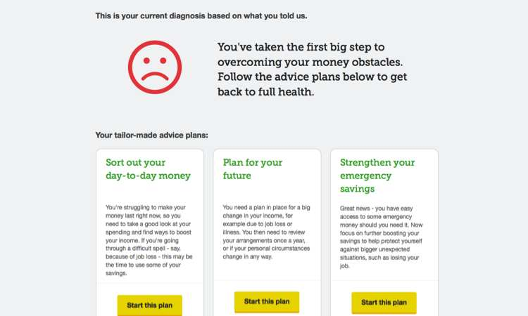 Money Health Check Tool