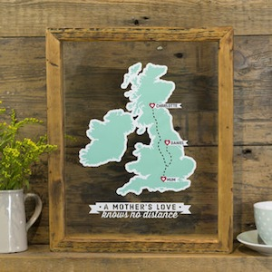 Mother's Day Personalised Wall Map