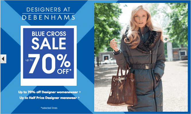 70% off in the Debenhams Sale